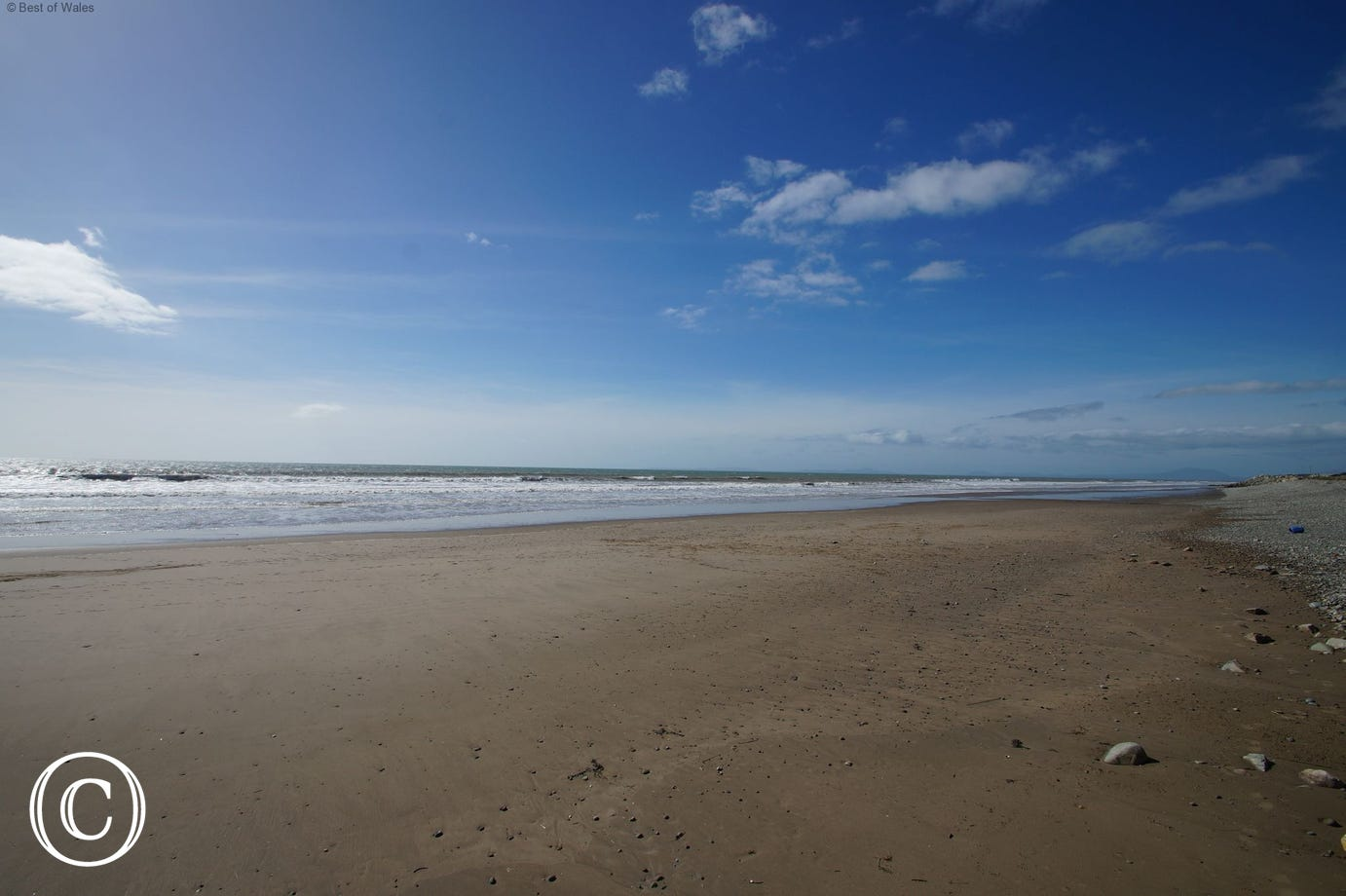 Tal-y-bont Beach - just a gentle 0.3 mile stroll from your Lodge