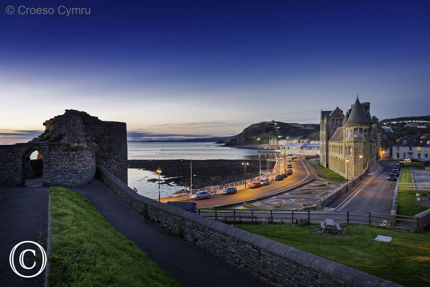 Just up the road from your holiday cottage Aberystwyth is a lovely seaside town with plenty of restaurants, pubs and cafes