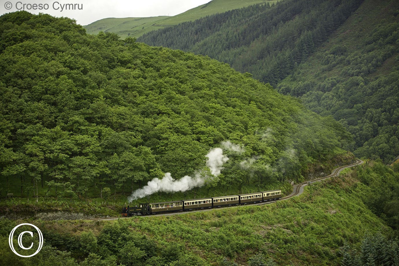 Enjoy a scenic steam train ride on the Vale of Rheidol Railway