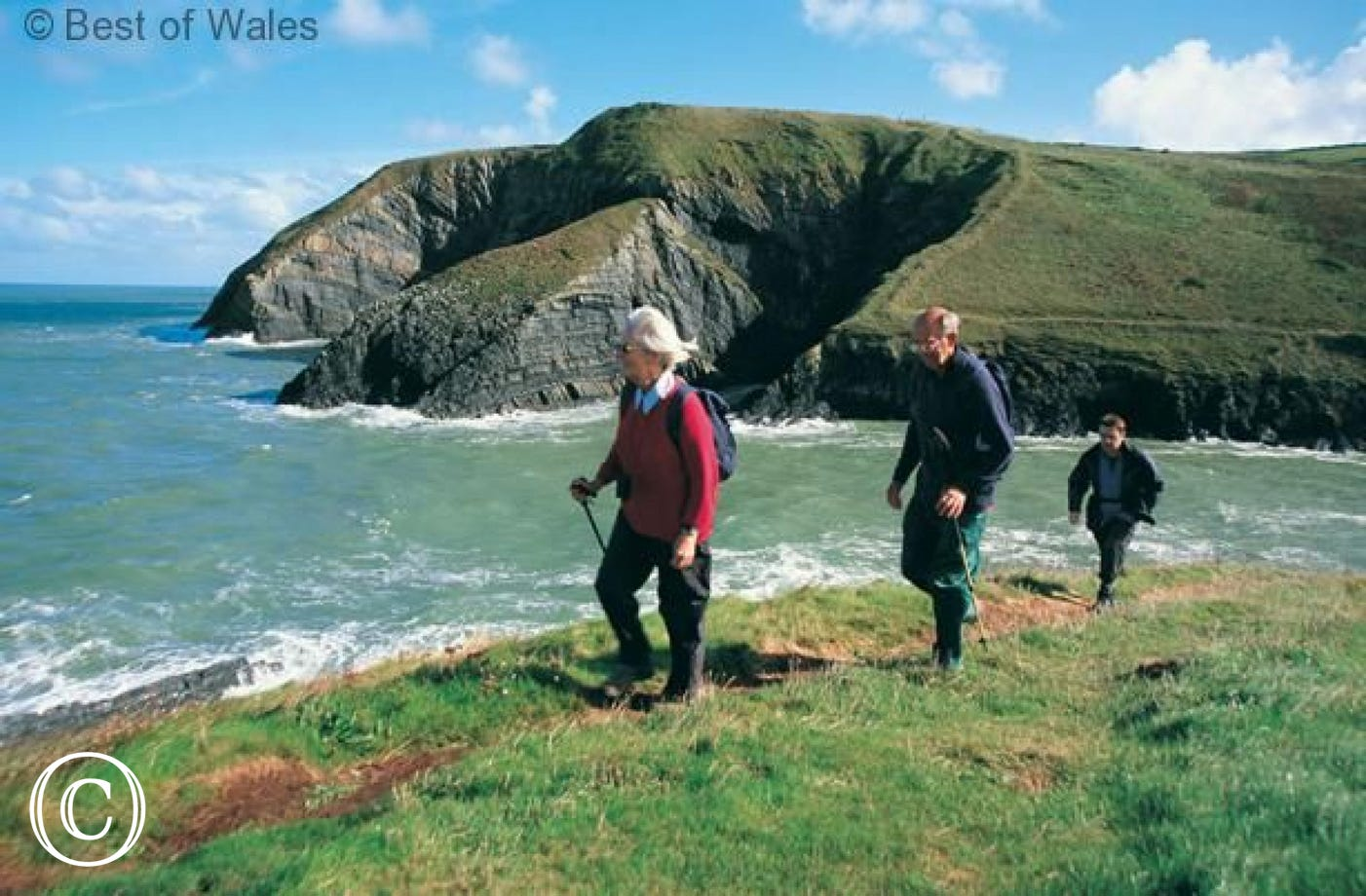 Walking the All Wales Coastal path nearby