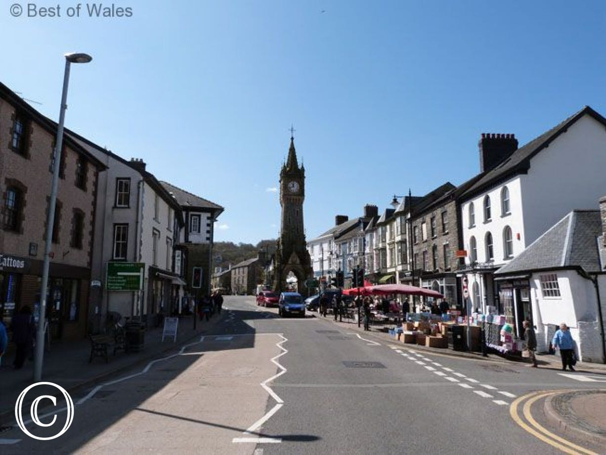 Machynlleth, The Ancient Capital of Wales (5 miles) on market day