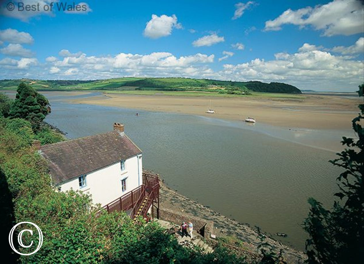 Laugharne is only 4 miles away  - Dylan Thomas boathouse