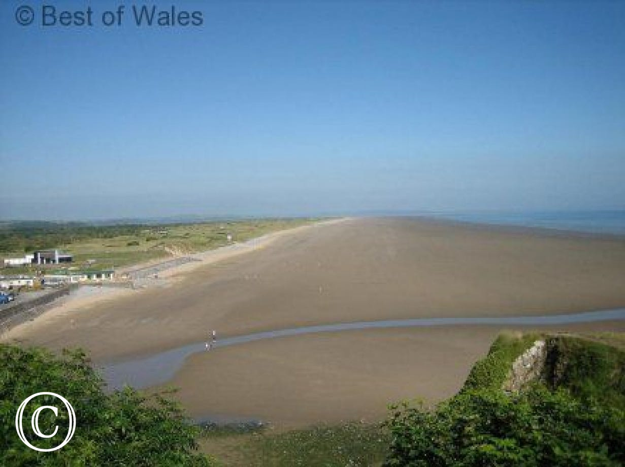 Pendine beach is only 8 miles from the cottage