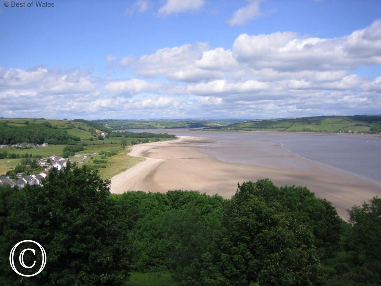 Llansteffan  beach is only 4 miles from the cottage