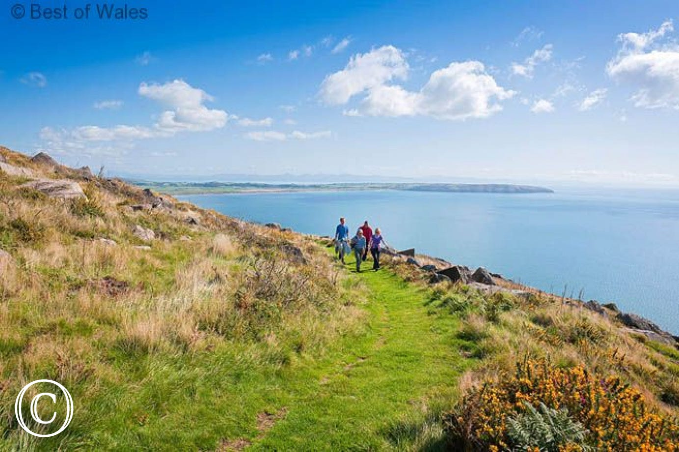 The beautiful Llyn Coastal Path is part of the All Wales Coast Path