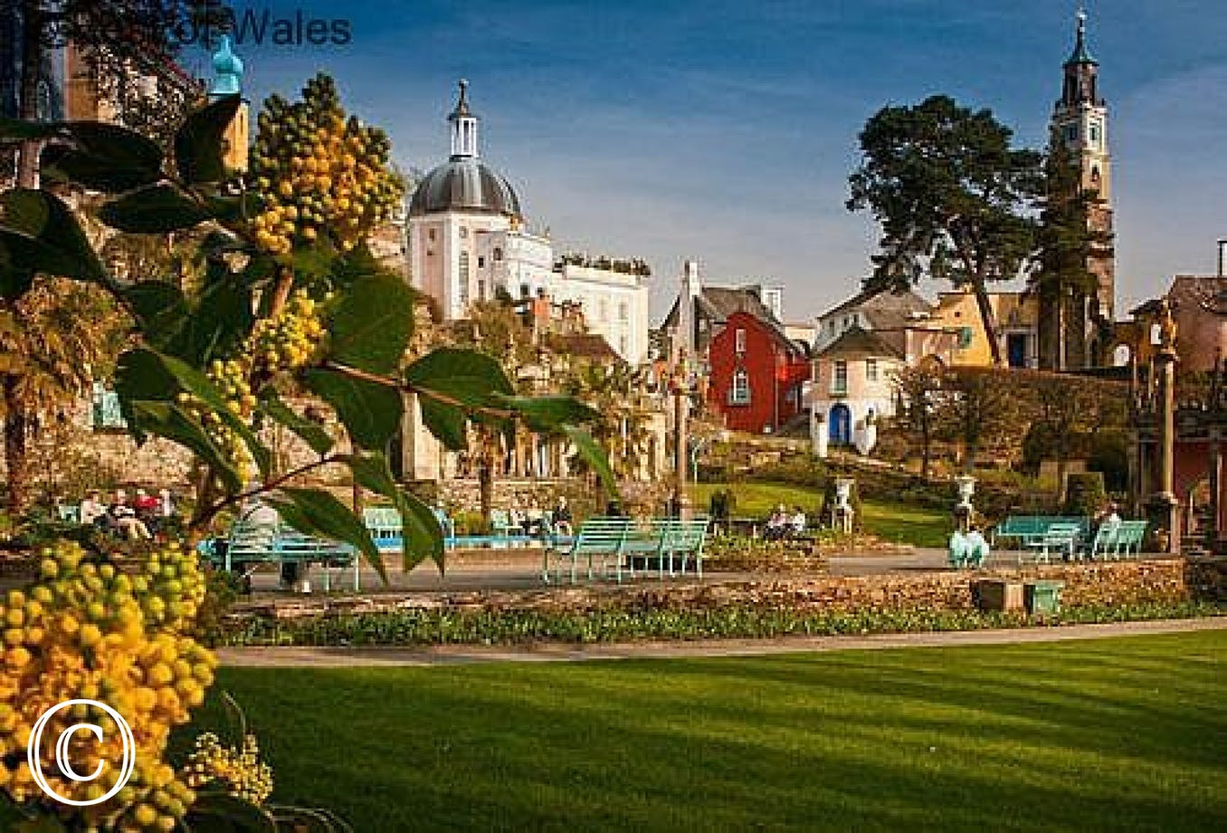 The classic Italian village and gardens of Portmeirion (10 miles)