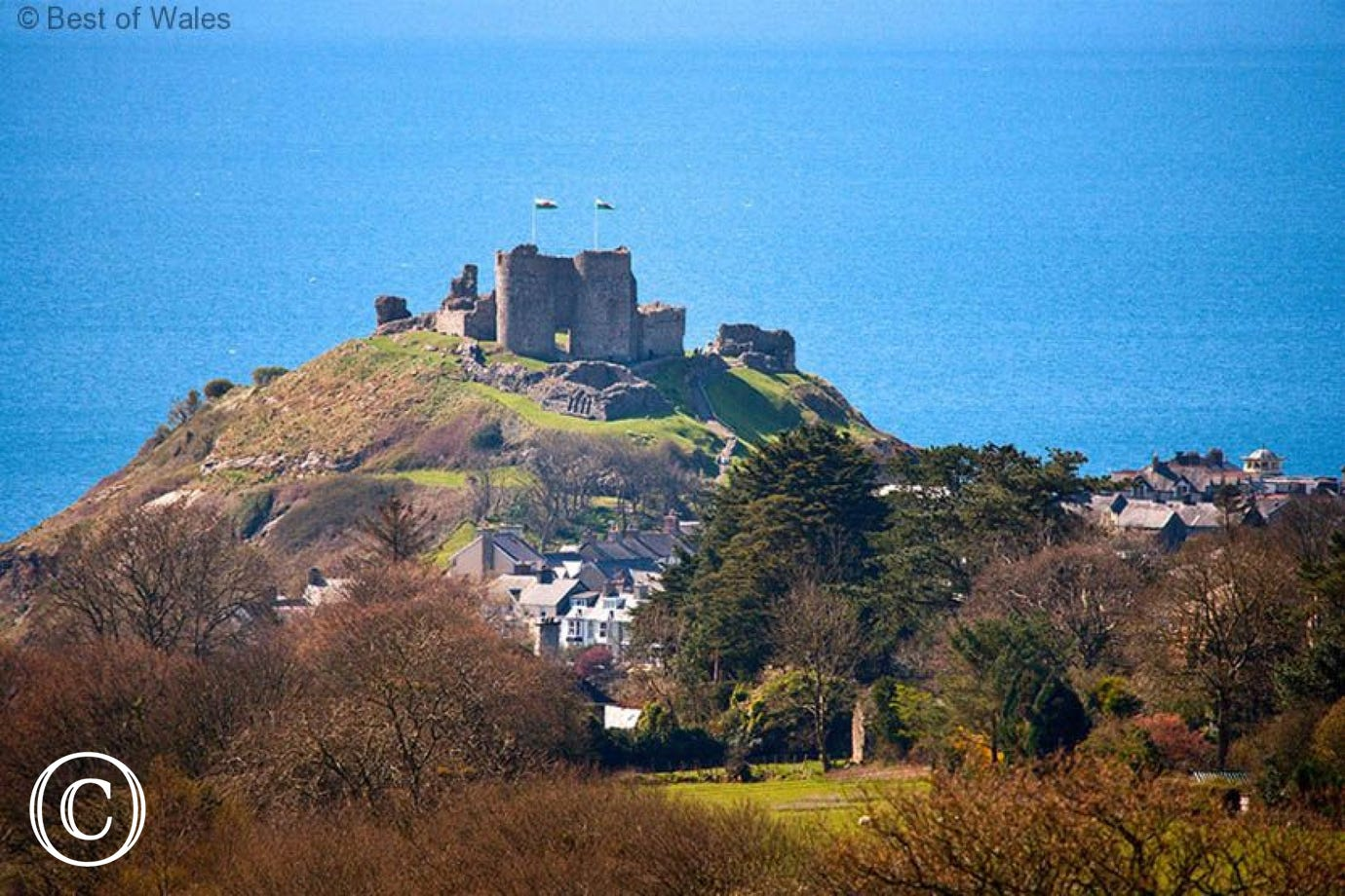 Cricieth Castle, just 5 miles away where you will also find 2 beaches