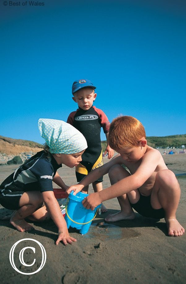 Children will love the great beaches in the area