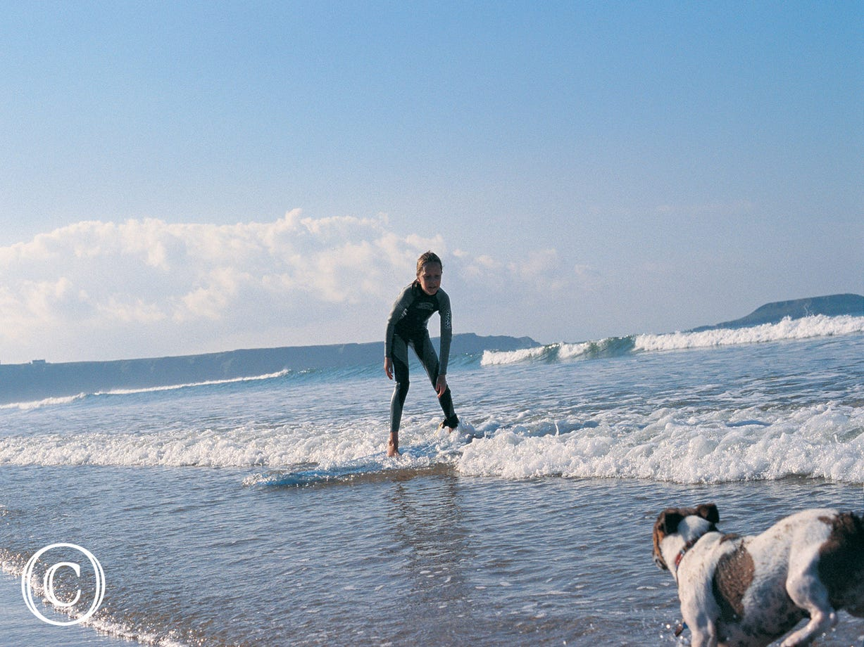 Great surfing within walking distance