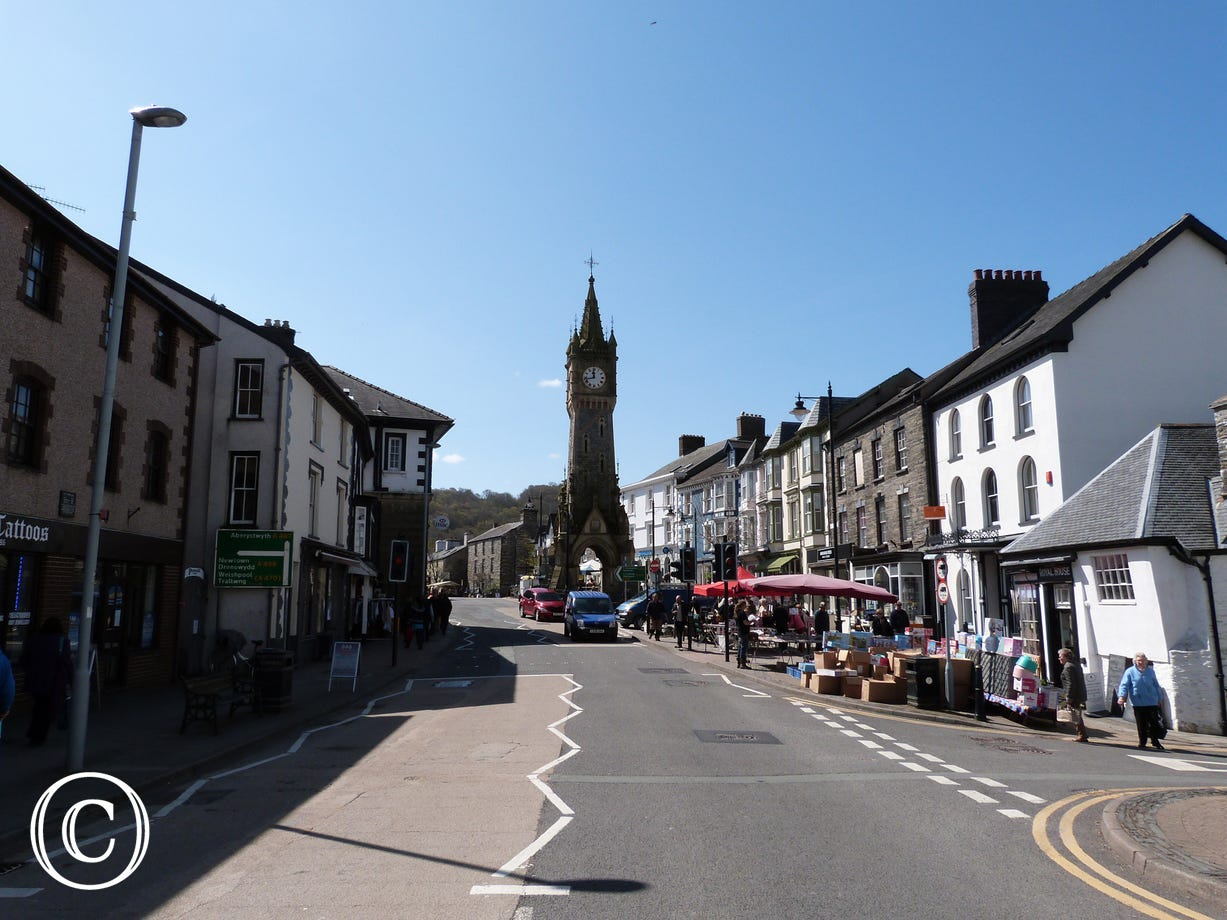 The historical market town of Machynlleth is only 7 miles