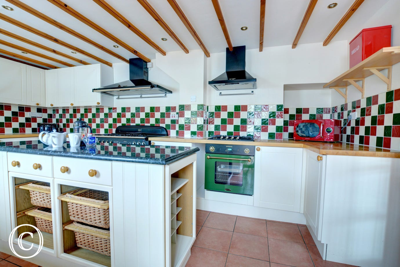 Kitchen fitted with Aga