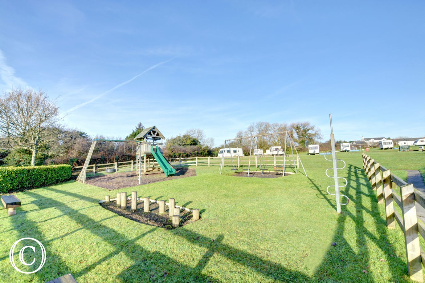 Moreton farmhouse is situated on a small caravan park with communal areas and children's playground
