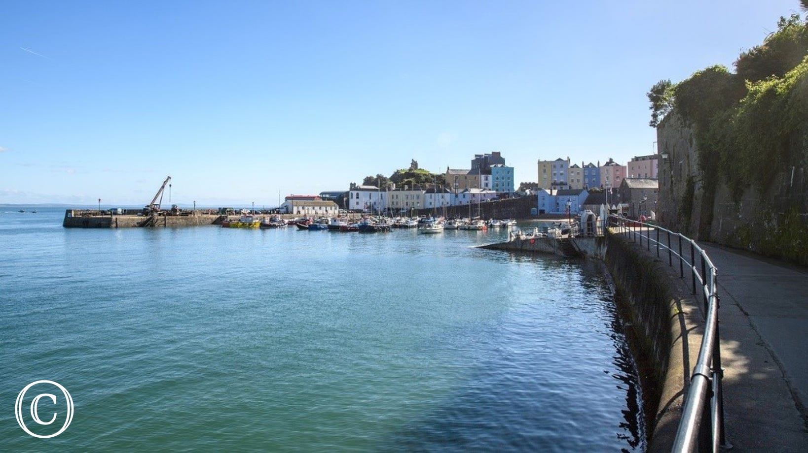 View of Tenby harbour, a couple of miles around the coast from Saundersfoot