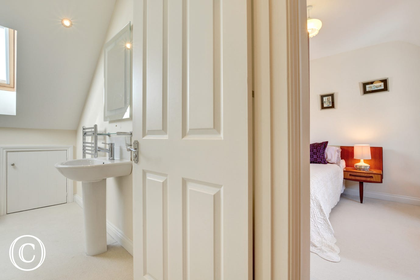 A glimpse of the master bedroom and en-suite