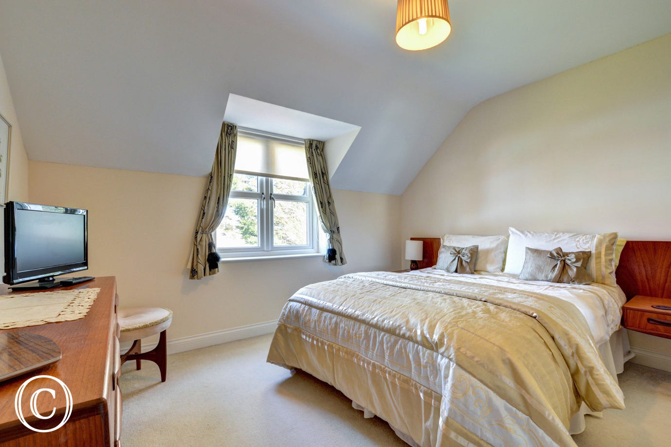 A bright and spacious third double bedroom