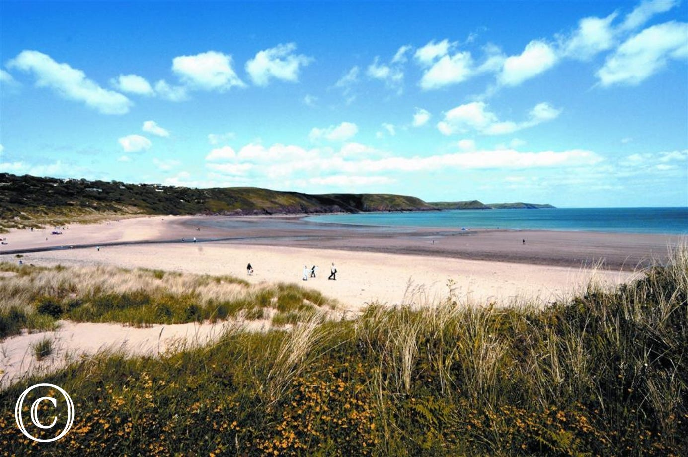 A short car journey will take you to Freshwater East