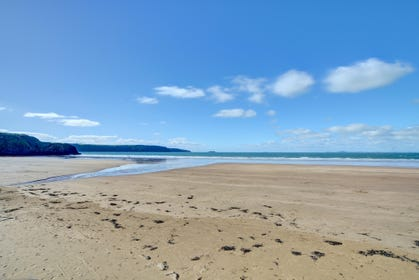 Beautiful sandy beach at Broad Haven