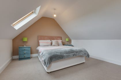A holiday property with double bedroom upstairs