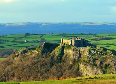 The spectacular Castell Carreg Cennen Castle is only 4 miles away
