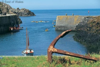 Nearby harbour of Porthgain is definately worth a visit