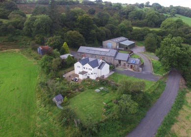 Farm , barn and cottage on a secluded farm in the Brecon Beacons