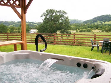 View from the hot tub down the valley