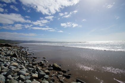 Tal-y-bont Beach - a beautiful stretch of sand within a short walk