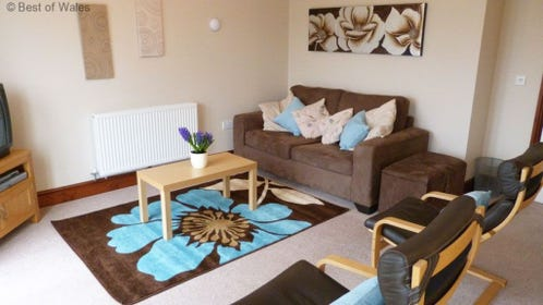 Abergavenny holiday cottage - Open plan lounge area