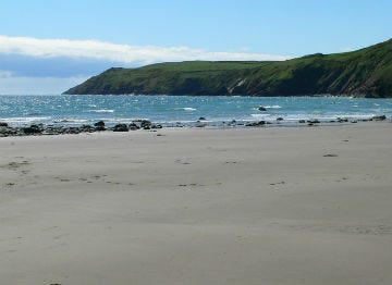 Aberdaron Beach on a sunny summers day