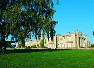 Bodelwyddan Castle in North East Wales basking in the sunshine