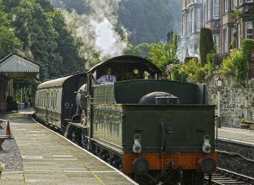 Llangollen Steam Railway in North East Wales