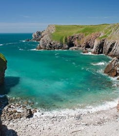 The popular tourist coastline of Pembrokeshire