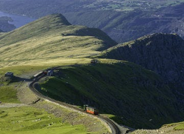 Snowdonia National Park with the Snowdon Mountain Railway