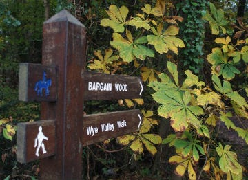 Wye Valley Walk signpost